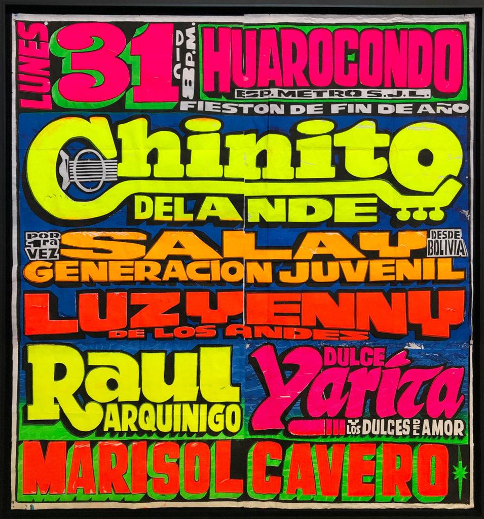"Pedro ""Monky"" Rojas Mesa concert poster."