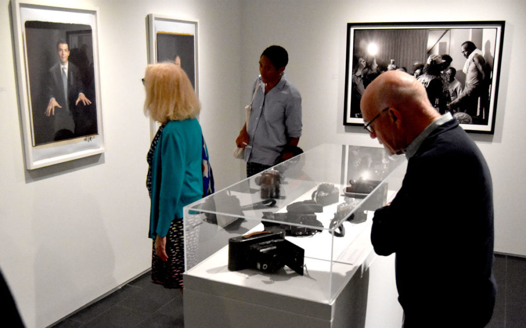 """The Sound of My Soul: Frank Stewart's Life in Jazz"" at Harvard University's Cooper Gallery of African & African American Art, Sept. 16, 2019. (Greg Cook photo)"