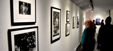 """""""The Sound of My Soul: Frank Stewart's Life in Jazz"""" at Harvard University's Cooper Gallery of African & African American Art, Sept. 16, 2019. (Greg Cook photo)"""