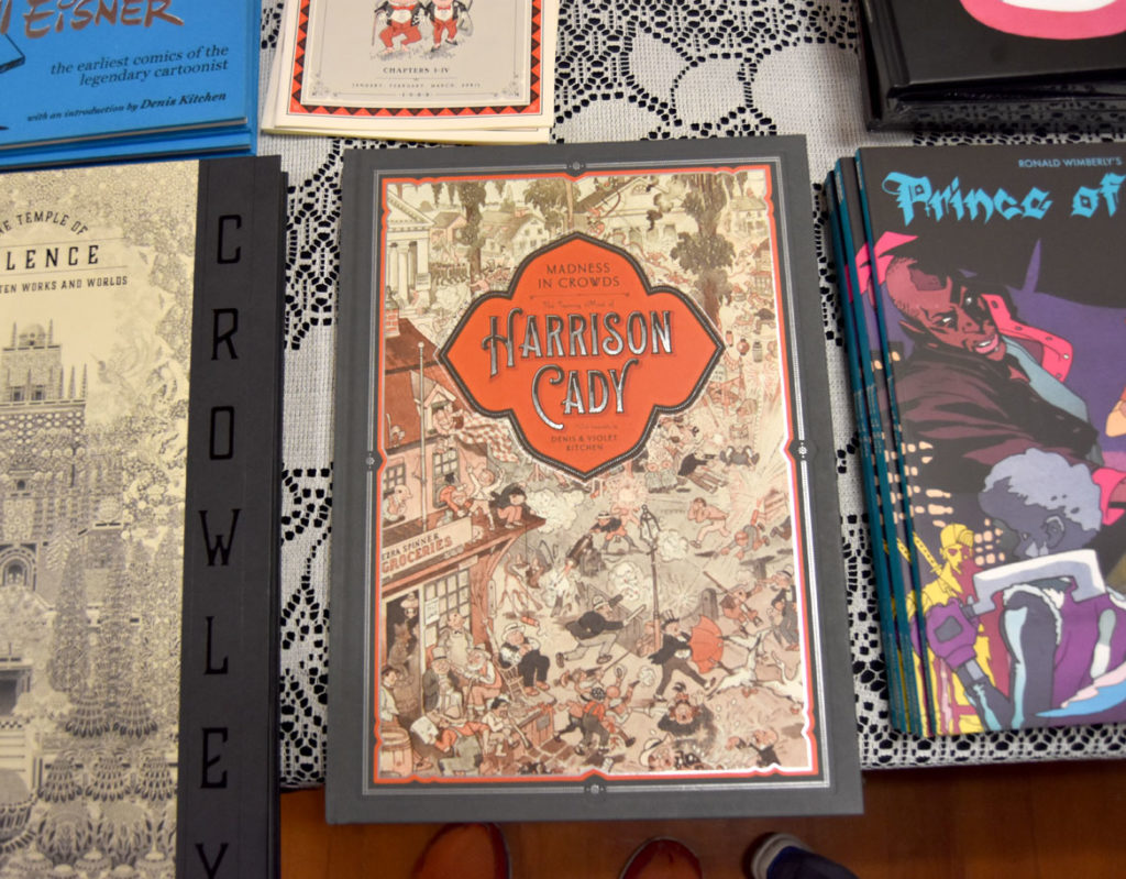 Collection of late Rockport cartoonist Harrison Cady from Denis Kitchen Publishing at MICE (Massachusetts Independent Comics Expo) at Lesley University, Oct. 19, 2019. (Greg Cook photo)