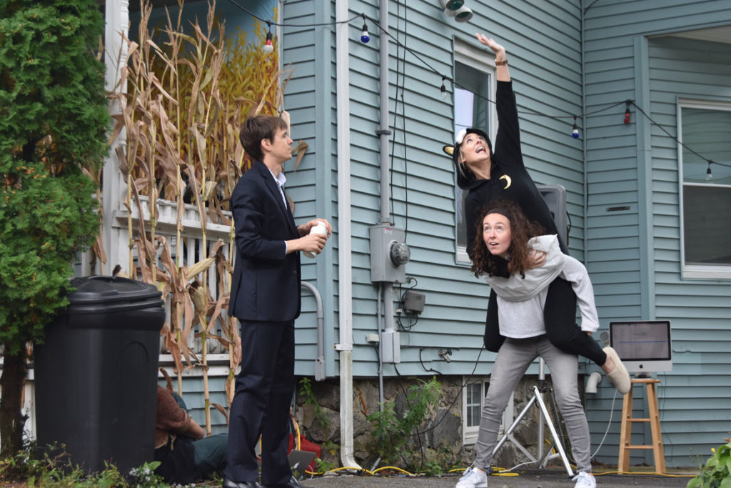 """Monkeyhouse dance troupe performs """"8 Feet"""" in Malden, Oct. 6, 2019. (Greg Cook photo)"""