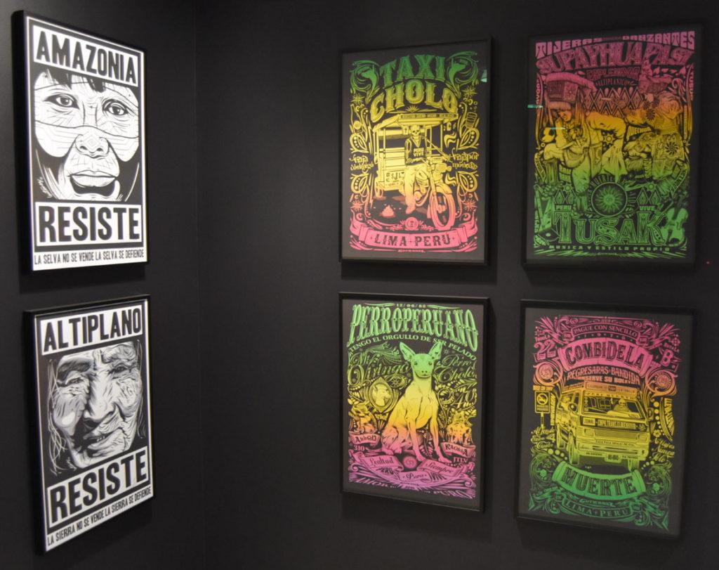 Familia Gutierrez (Samuel Gutierrez) posters. (Greg Cook photo)