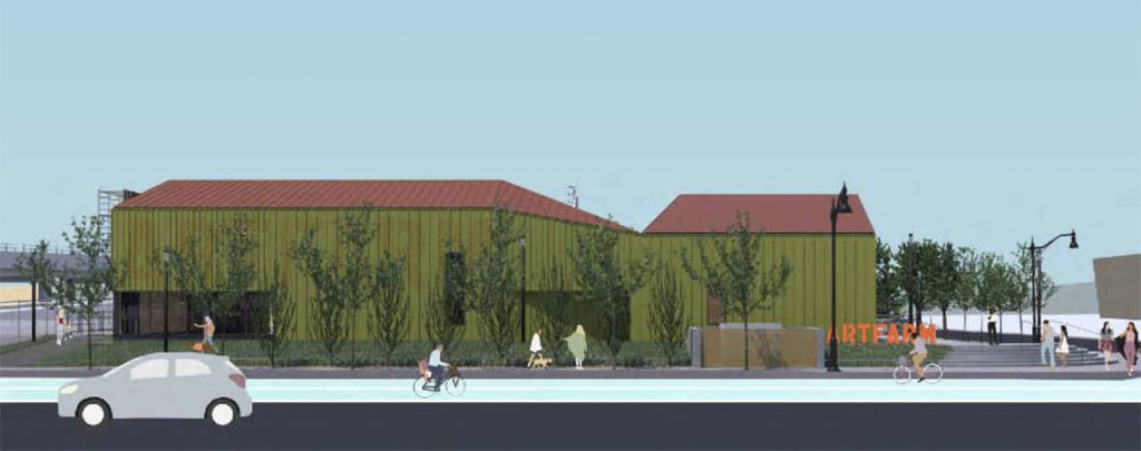 Design of ArtBarn at ArtFarm. (Courtesy Somerville Arts Council and OverUnder)