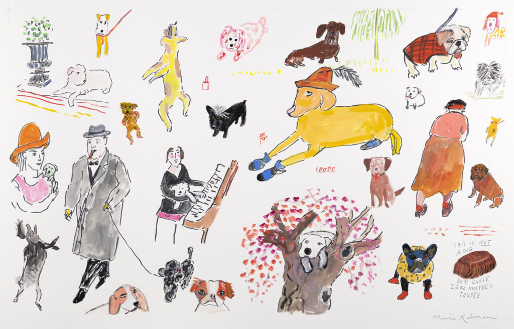 "Maira Kalman, Illustration for ""Beloved Dog"" (Penguin Press). Courtesy of Julie Saul Projects, New York. © 2015 Maira Kalman."