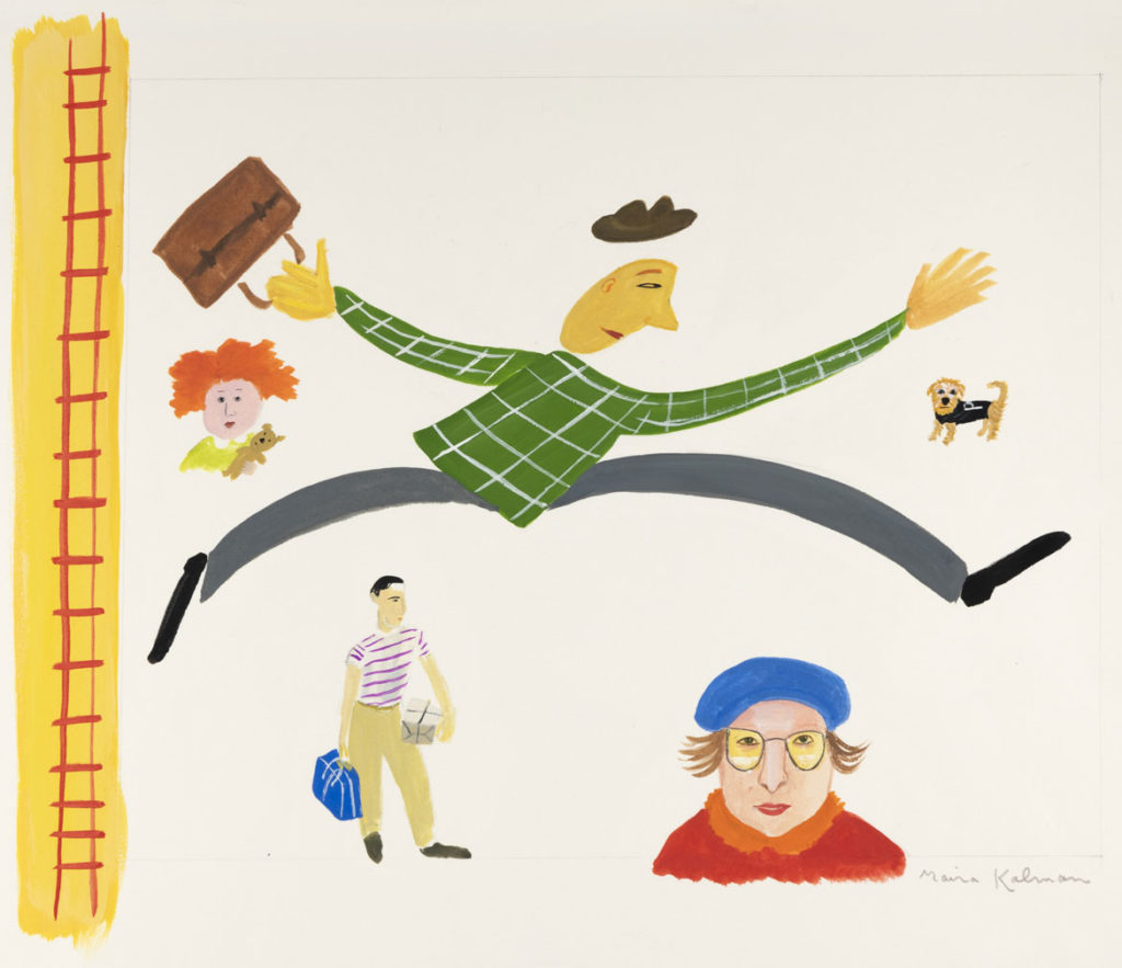 "Maira Kalman, Illustration for ""Next Stop, Grand Central"" (G. P. Putnam's Sons). Courtesy of Julie Saul Projects, New York. © 1999 Maira Kalman."