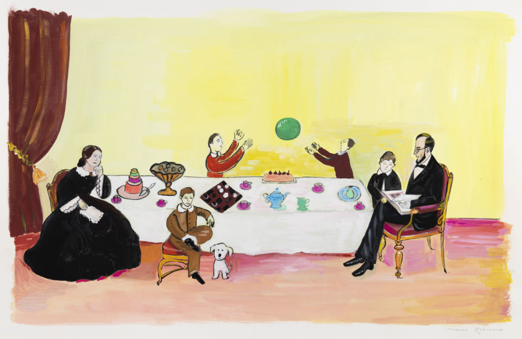 "Maira Kalman, Illustration for ""Looking at Lincoln"" (Nancy Paulson Books). Courtesy of Julie Saul Projects, New York. © 2012 Maira Kalman."