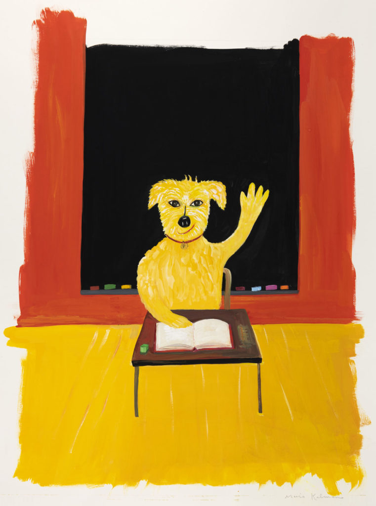 "Maira Kalman, Illustration for ""Smartypants (Pete in School)"" (G. P. Putnam's Sons). Courtesy of Julie Saul Projects, New York. © 2003 Maira Kalman."