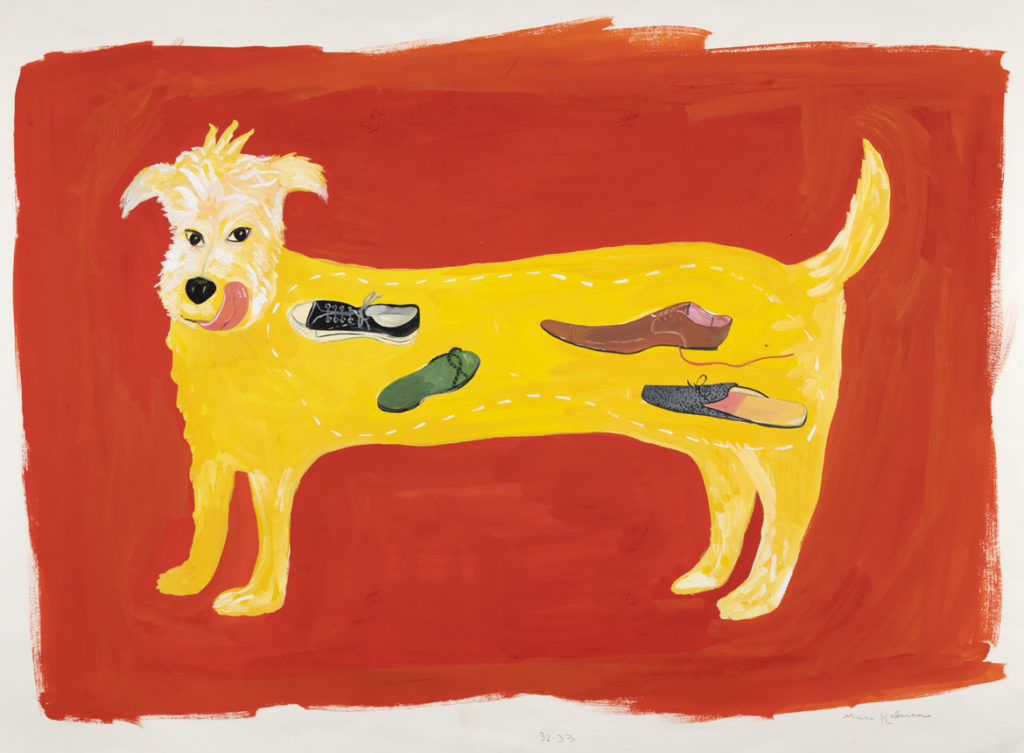 "Maira Kalman, Illustration for ""What Pete Ate From A-Z (Really!) (G. P. Putnam's Sons). Courtesy o""f Julie Saul Projects, New York. © 2001 Maira Kalman."