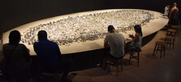 """Archive of Mind"" by South Korean artist Kimsooja at Salem's Peabody Essex Museum, July 20, 2019. (Greg Cook photo)"