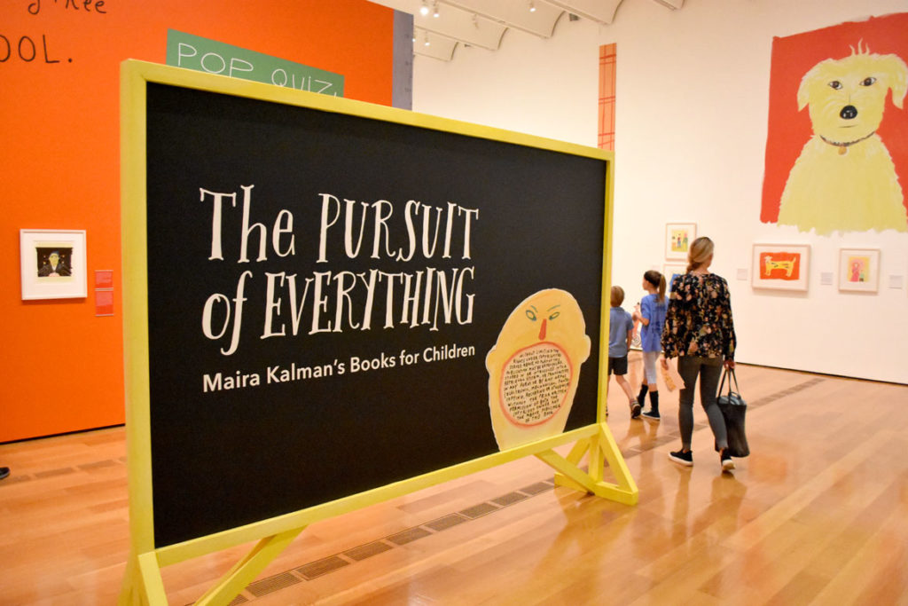 """The Pursuit of Everything: Maira Kalman's Books for Children"" at Atlanta's High Museum of Art, June 25, 2019. (Greg Cook photo)"