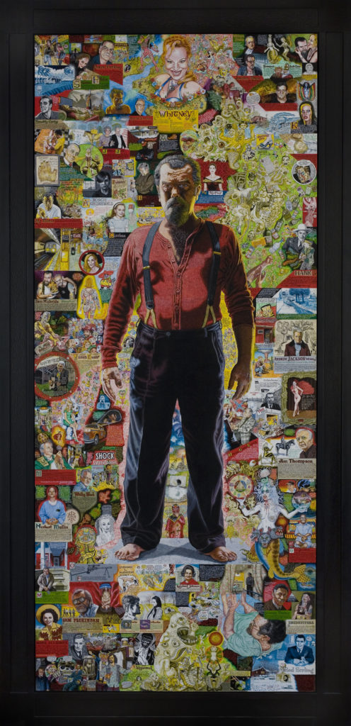 "Joe Coleman's ""A Doorway to Joe,"" 2010, acrylic on wood panel. (Courtesy Andrew Edlin Gallery, New York)"