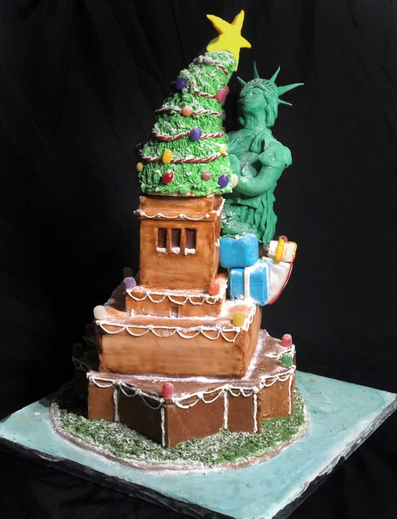 "Array Architects' ""Liberty & Christmas for All"" in Gingerbread Design Competition and Exhibition, Boston Society of Architects Space, Dec. 17, 2019. (Courtesy)"