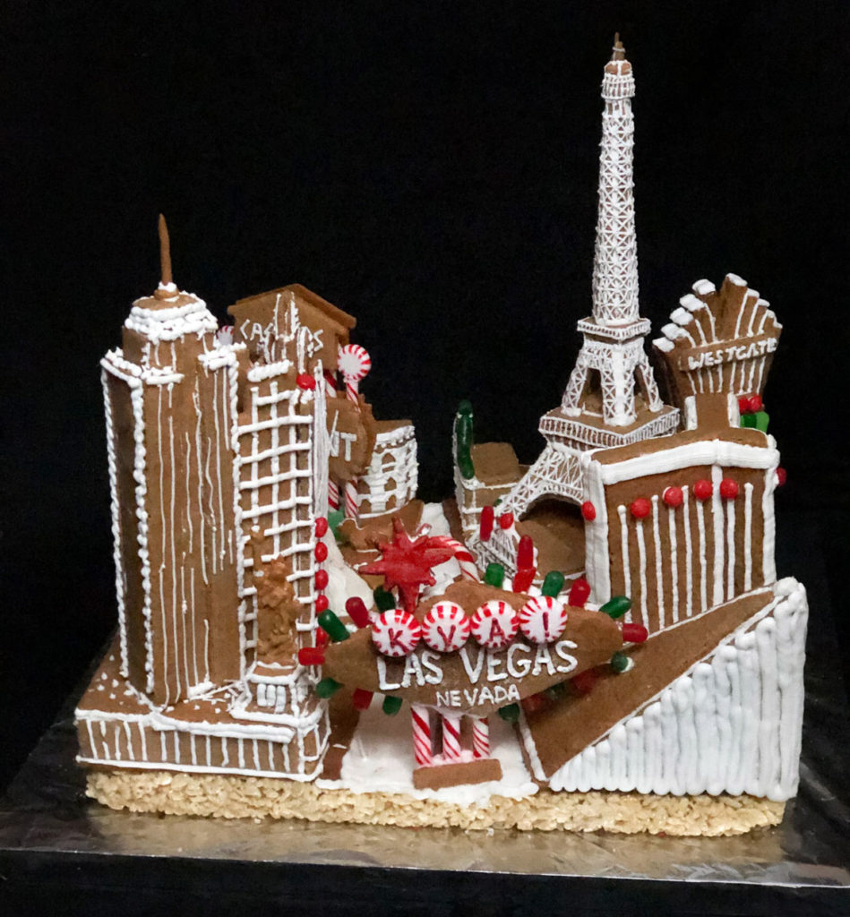 "Kennedy & Violich Architecture's ""I Am a Monument"" in Gingerbread Design Competition and Exhibition, Boston Society of Architects Space, Dec. 17, 2019. (Courtesy)"