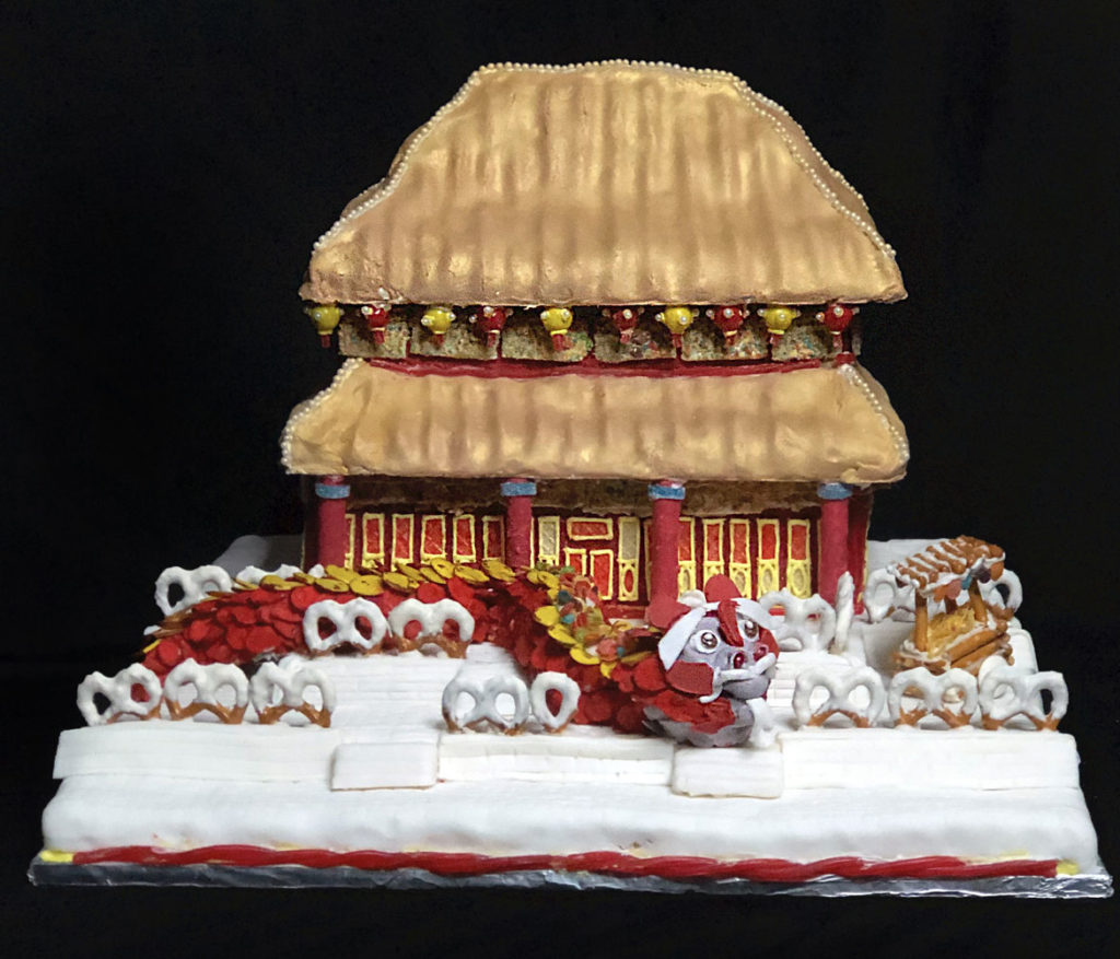 "Lda Architecture & Interiors's ""Festivities in the Forbidden City"" in Gingerbread Design Competition and Exhibition, Boston Society of Architects Space, Dec. 17, 2019. (Courtesy)"