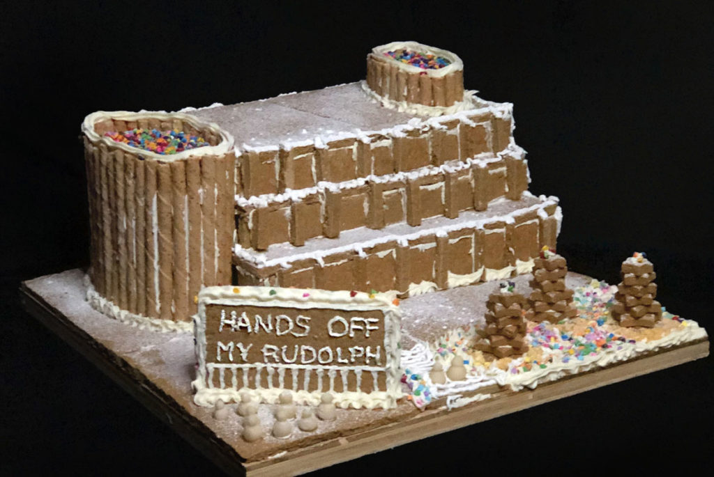 "OverUnder's ""Paul Rudolph's Government Service Building"" in Gingerbread Design Competition and Exhibition, Boston Society of Architects Space, Dec. 17, 2019. (Courtesy)"