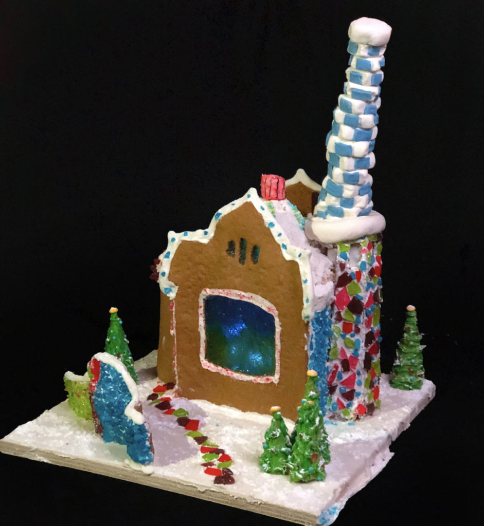 "PM Group's ""Park Guell, Barcelona"" in Gingerbread Design Competition and Exhibition, Boston Society of Architects Space, Dec. 17, 2019. (Courtesy)"