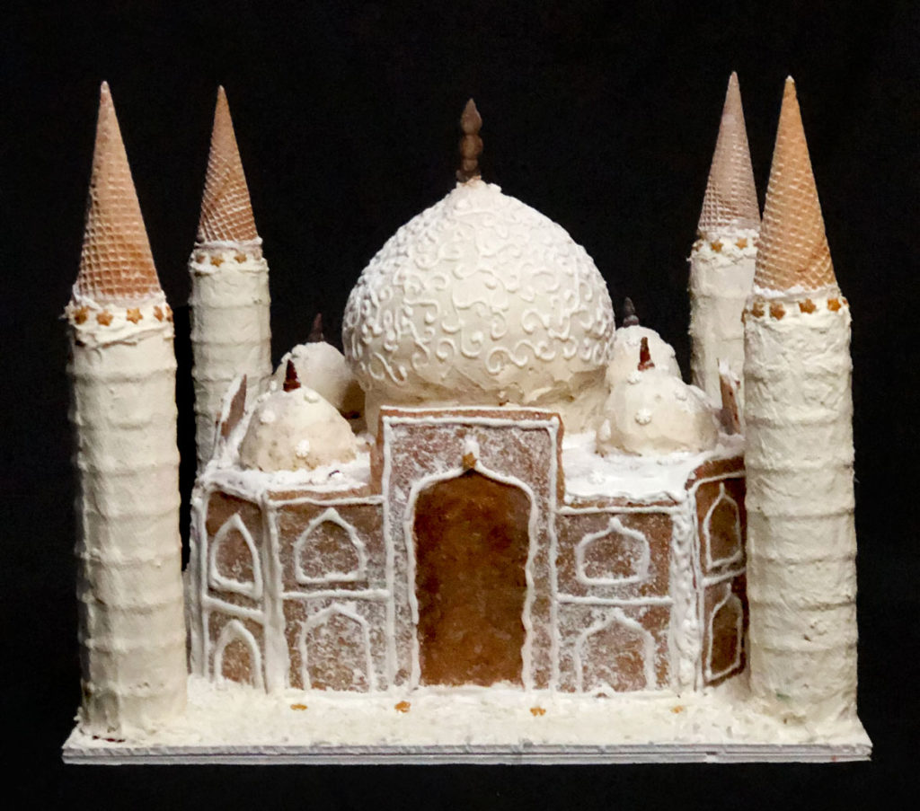 "Phase Zero Design's ""Taj Mahal"" in Gingerbread Design Competition and Exhibition, Boston Society of Architects Space, Dec. 17, 2019. (Courtesy)"