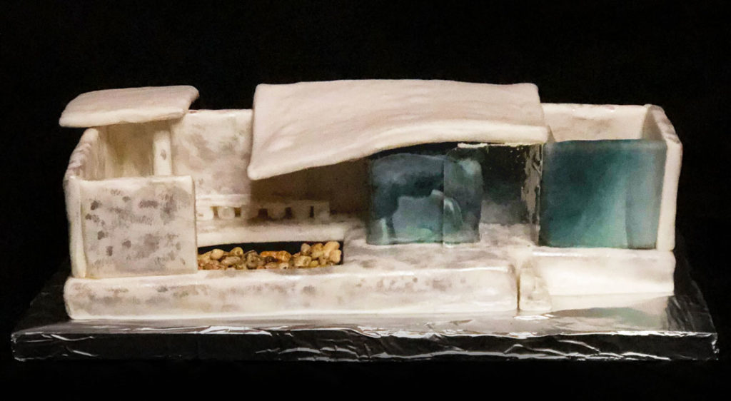 "Slocum Hall Design Group, Inc.'s ""Barcelona Pavillion"" in Gingerbread Design Competition and Exhibition, Boston Society of Architects Space, Dec. 17, 2019. (Courtesy)"