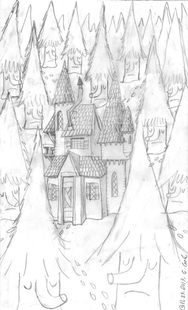 "Greg Cook, ""Winter Wood,"" pencil sketch, copyright Nov. 29, 2019."