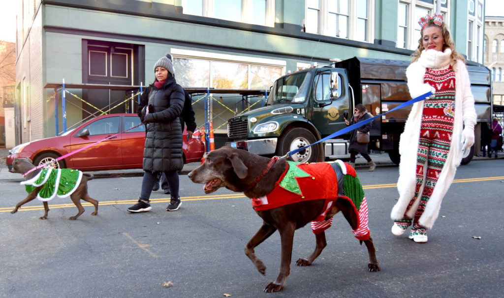Malden Parade of Holiday Traditions, Nov. 30, 2019. (Greg Cook photo)