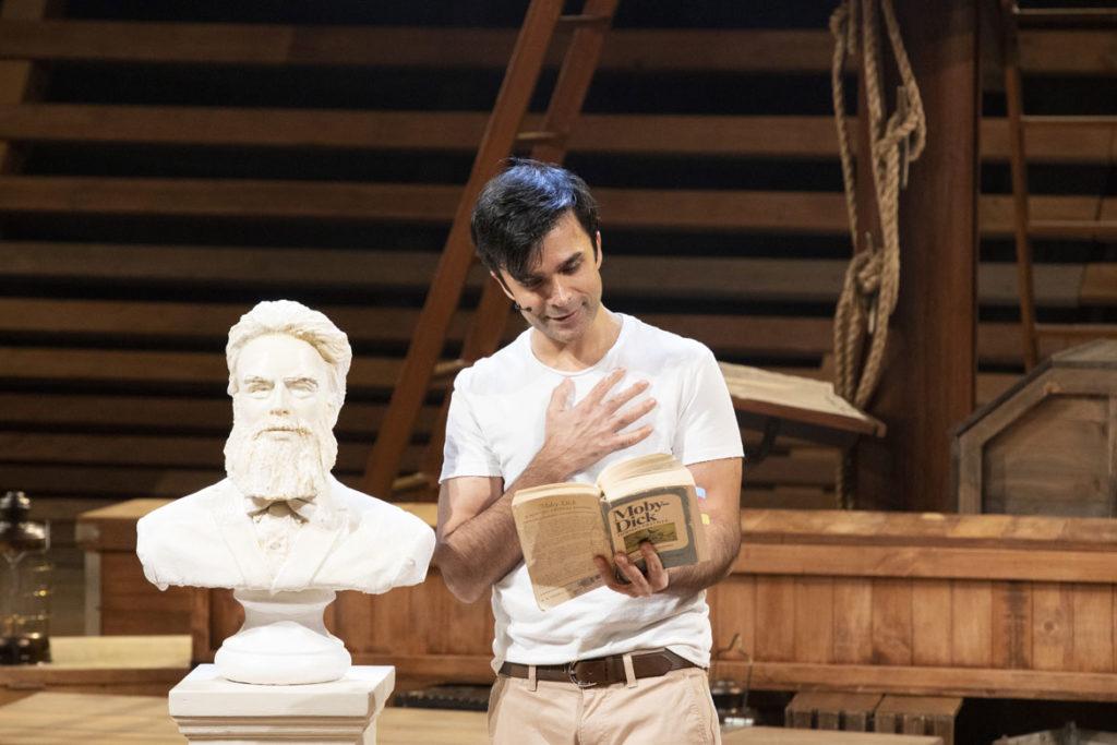 """Manik Choksi as Ishmael in American Repertory Theater's """"Moby-Dick."""" (Evgenia Eliseeva photo)"""