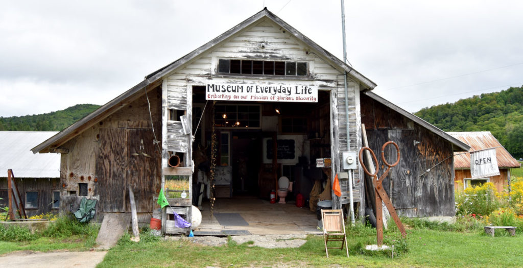 Clare Dolan's Museum of Everyday Life in Glover, Vermont, Aug. 24, 2019. (Greg Cook photo)