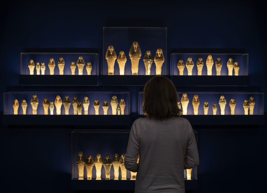 """Royal Shawabites in """"Ancient Nubia Now"""" at Boston's Museum of Fine Arts."""