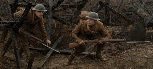 """Blake (Dean-Charles Chapman, left) and Schofield (George MacKay) in """"1917."""" (Universal Pictures and DreamWorks Pictures)"""
