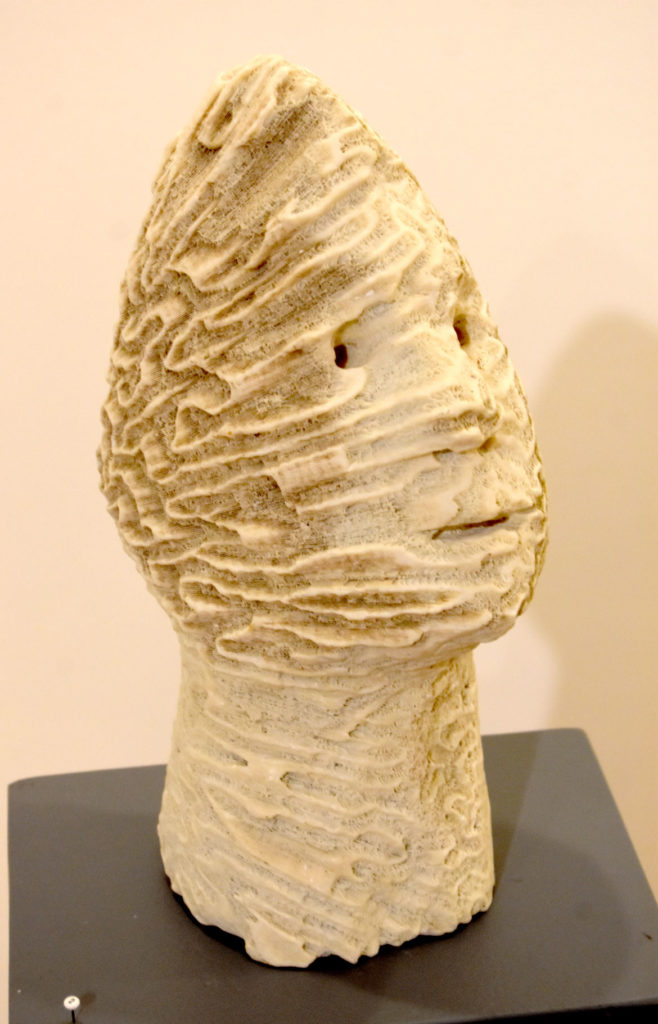 """Joseph Wheelwright, """"Beachcomber,"""" 2014, carved coral from the Bahamas. (Gallery Kayafas)"""