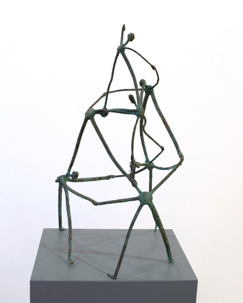 "Joseph Wheelwright, ""Twig Circus,"" c. 2002, booze cast from tree branches. (Gallery Kayafas, Boston)"