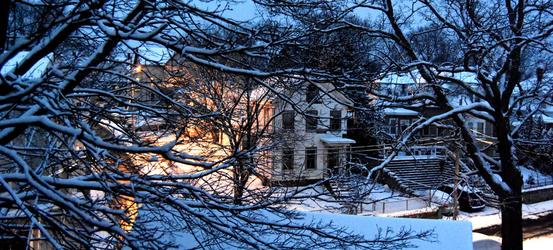 Snow in Malden, Massachusetts, Dec. 19, 2020. (Greg Cook photo)