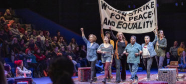 "Reenacting the 1970 Women's Strike for Equality in ""Gloria: A Life"" at American Repertory Theater, Cambridge. (APrioriPhotography.com)"
