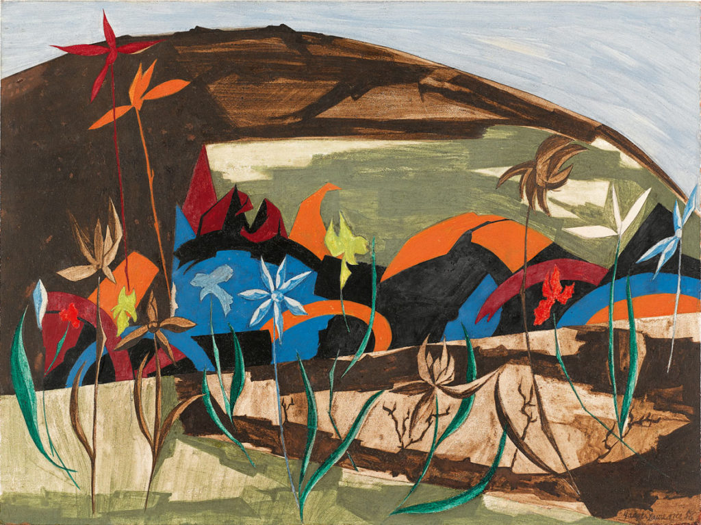 "Jacob Lawrence, ""​Peace​,"" Panel 26, 1956, from"