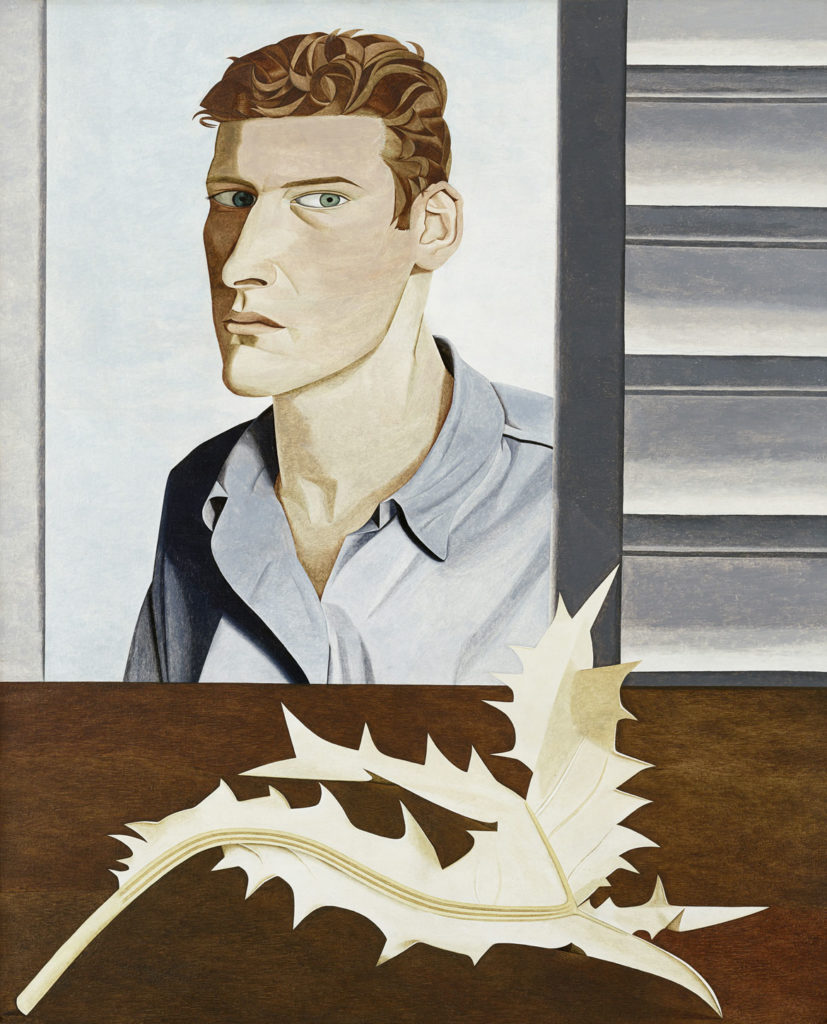 """Lucian Freud, """"Man with a Thistle (Self‐Portrait),"""" 1946, Oil on canvas. (Courtesy, Museum of Fine Arts, Boston)"""