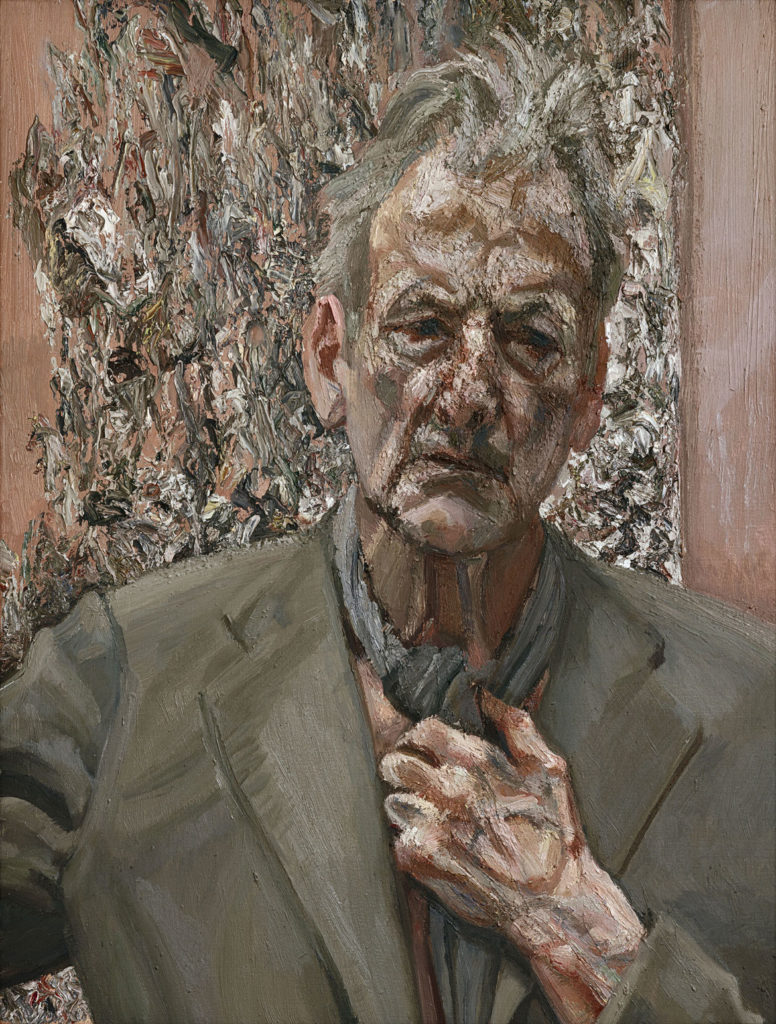 "Lucian Freud, ""Self‐Portrait, Reflection,"" 2002, Oil on canvas. (Courtesy, Museum of Fine Arts, Boston)"