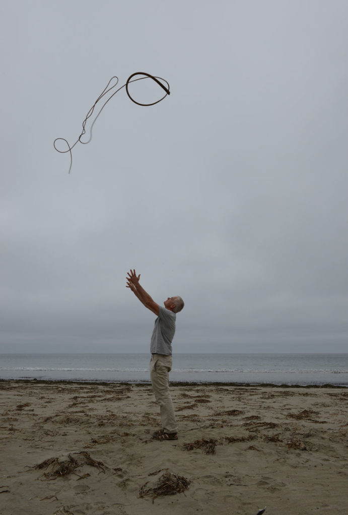 "Andy Goldsworthy, ""Kelp thrown into a grey, overcast sky Drakes Beach, California, 14 July 2013,"" 2013. (© Andy Goldsworthy, courtesy Galerie Lelong & Co., New York)"