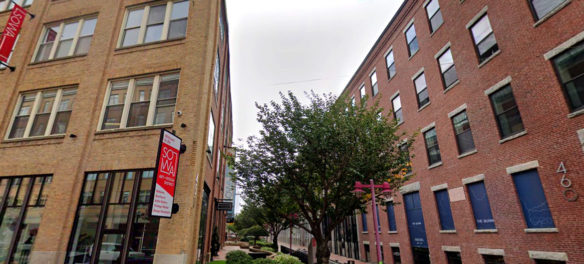 Gallery and studio buildings at 450 and 460 Harrison Ave. in Boston's South End.