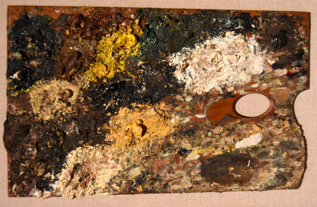 Lucian Freud palette. (Greg Cook photo)