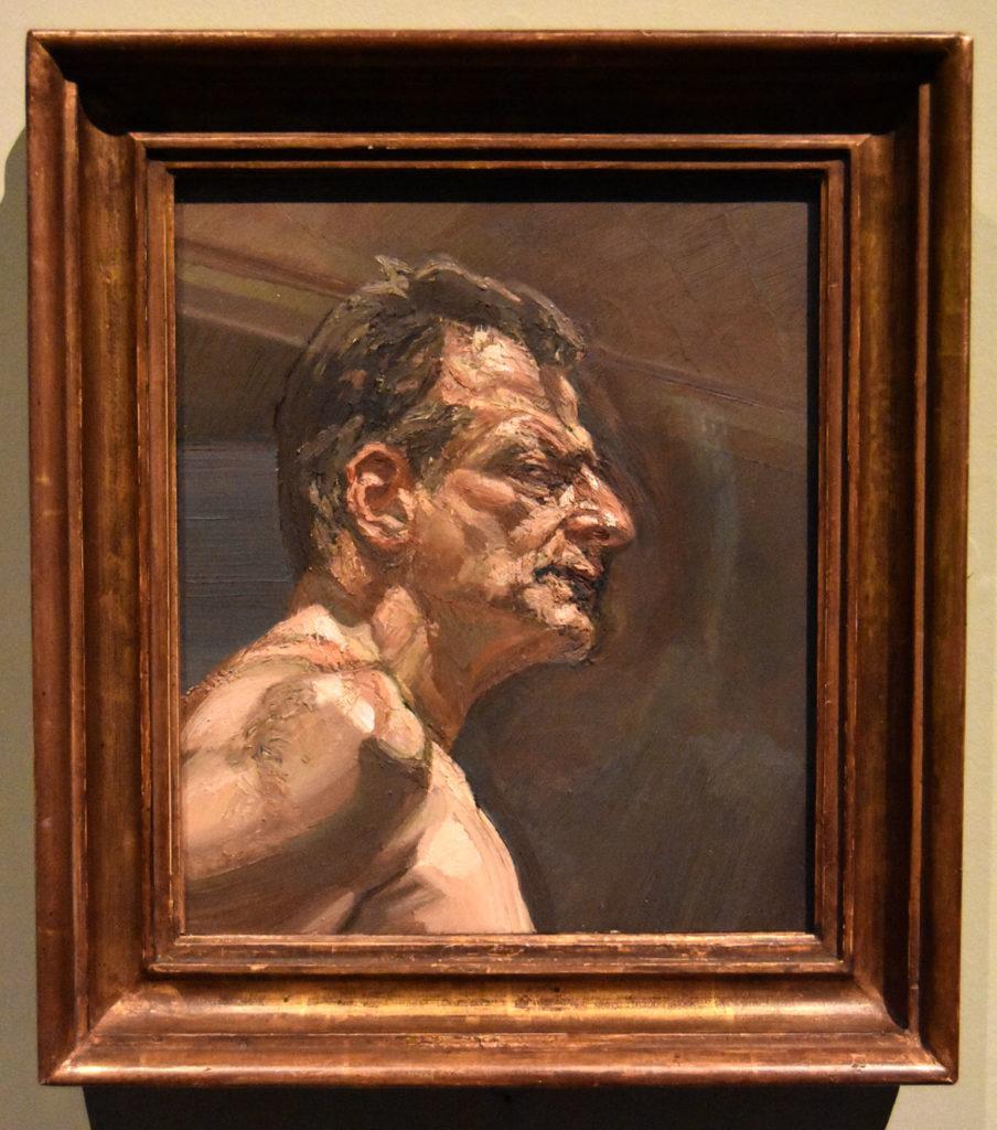 "Lucian Freud, ""Reflection (Self-portrait),"" 1981-2, Oil on canvas."