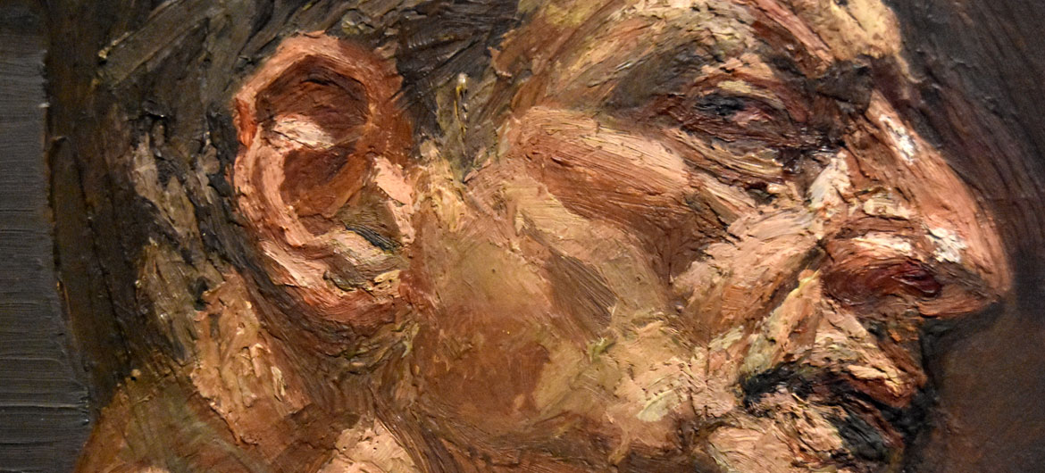 """Lucian Freud, detail of """"Reflection (Self-portrait),"""" 1981-2, Oil on canvas."""