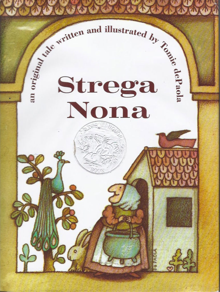 "Tomie DePaola, cover of ""Strega Nona,"" 1975."