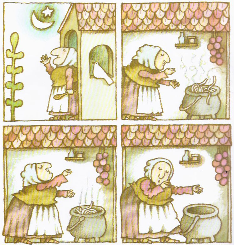 "Tomie DePaola, from ""Strega Nona,"" 1975."
