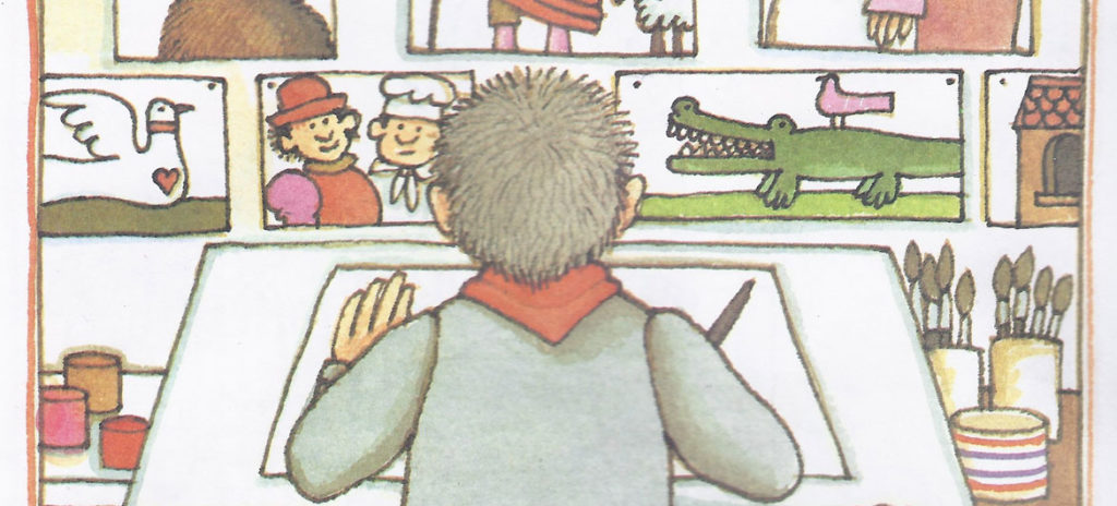 """Tomie DePaola, from """"The Art Lesson,"""" 1989."""