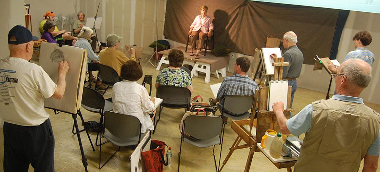 The Malden Sketch Group, June 2, 2014. (Greg Cook photo)