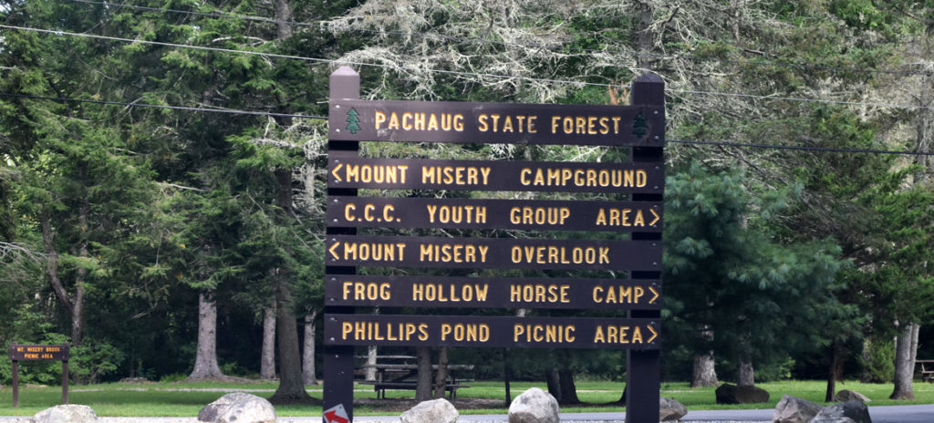 Mount Misery in Pachaug State Forest, Connecticut, Aug. 25, 2018. (Greg Cook photo)