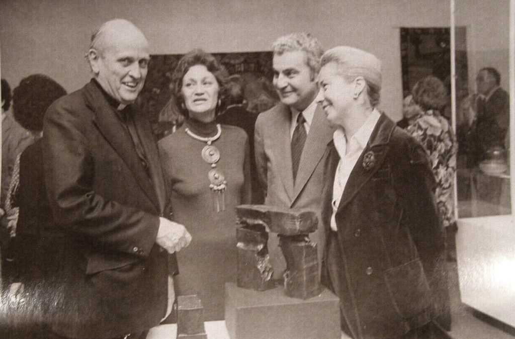 Danforth Art Museum co-founder Paul Marks (second from right) at a fundraiser at the Framingham institution.