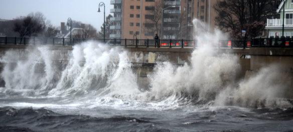 Windstorm at Lynn Shore Drive, near Red Rock Park, Lynn, April 13, 2020. (Greg Cook photo)