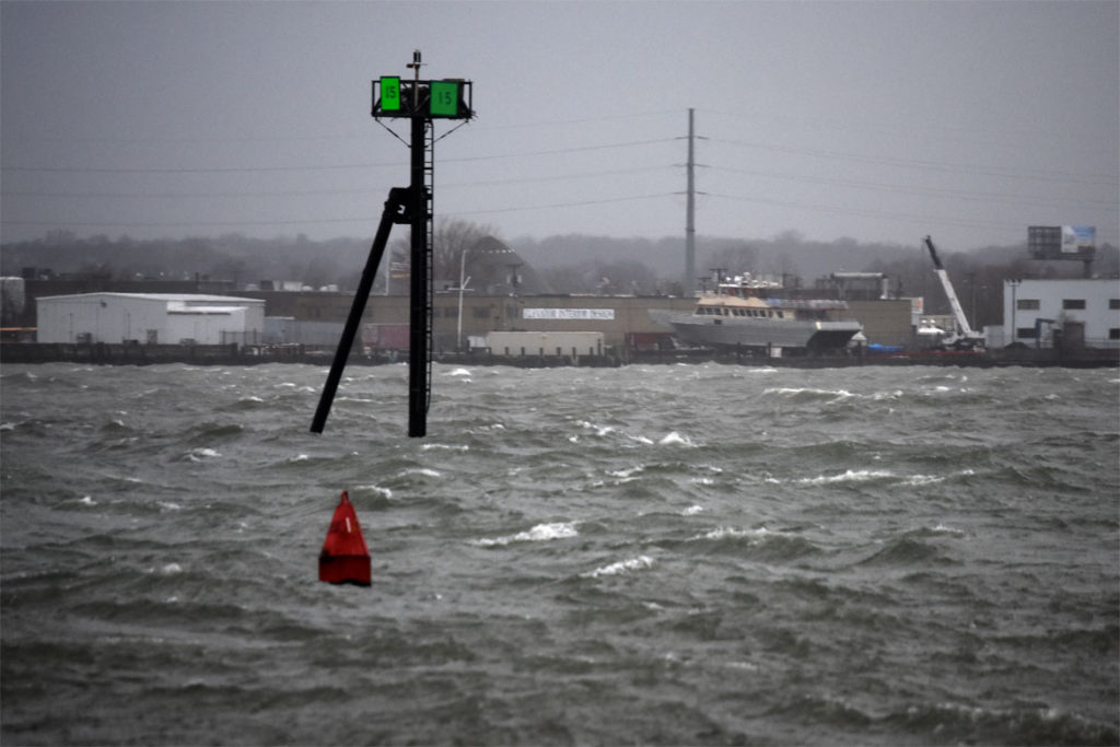 Windstorm looking from the backside of Nahant Beach toward Lynn, April 13, 2020. (Greg Cook photo)