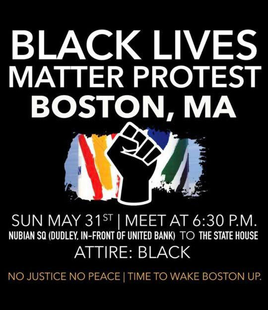 Black Lives Matter Protest in Boston, May 31, 2020
