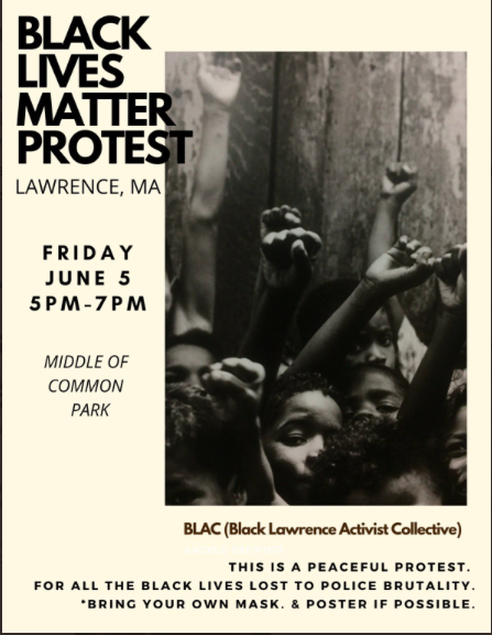 Black Lives Matter Protest in Lawrence, Massachusetts, June 5, 2020.